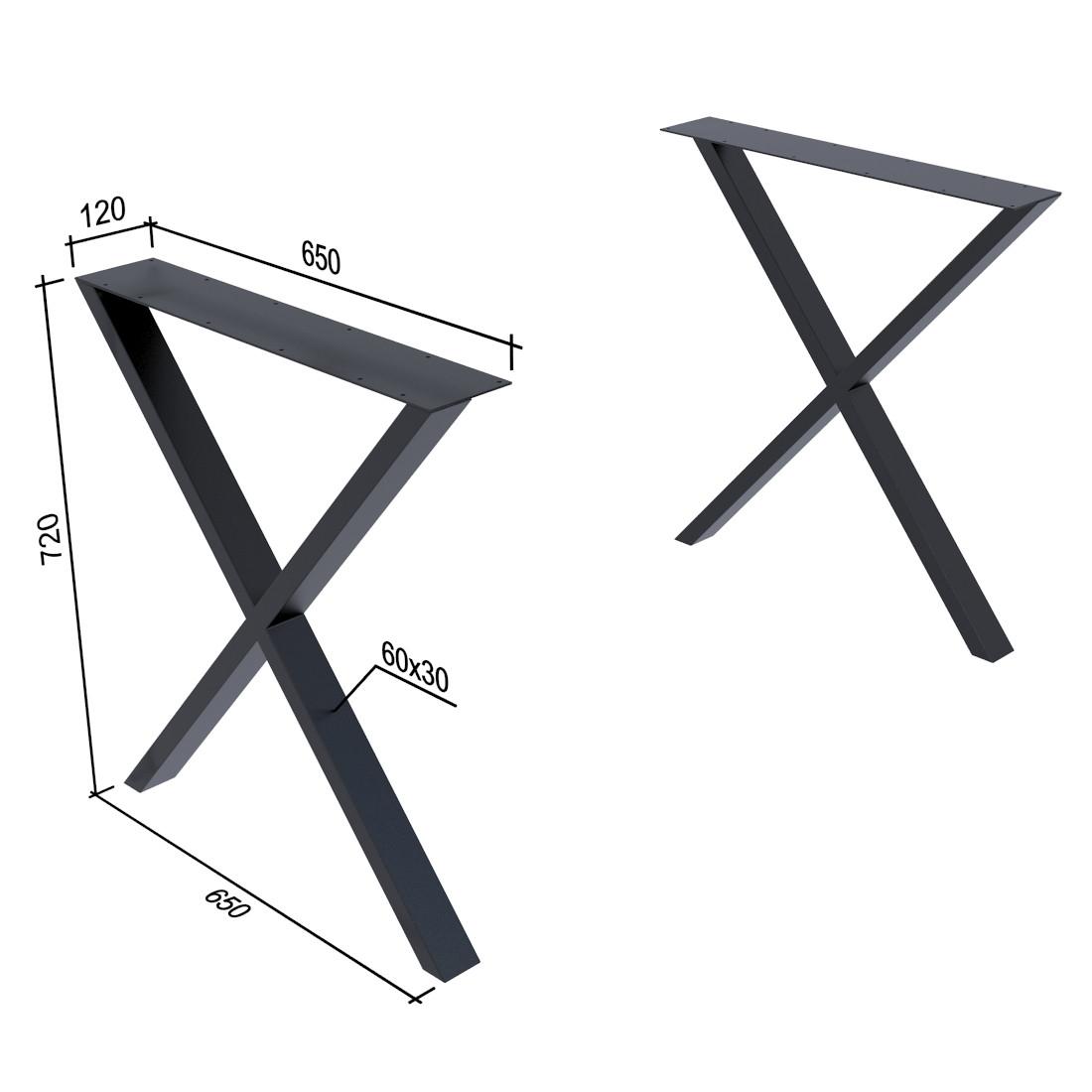Опора для стола Иксы Loft Design