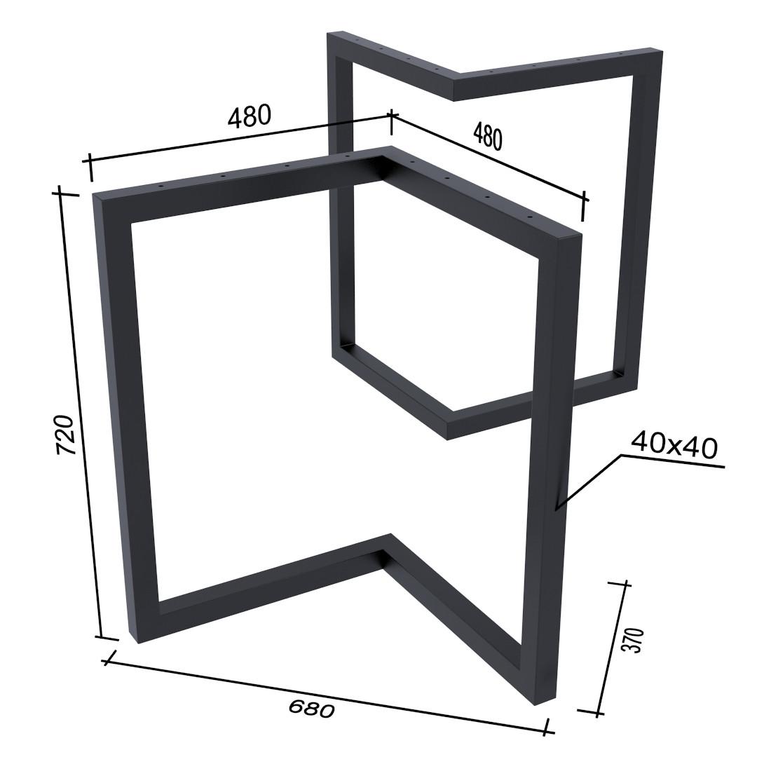 Опора для стола Эхо Loft Design